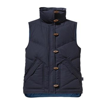 Patagonia Women's Toggle Down Canvas Vest | Blueblack