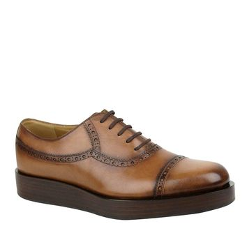 Gucci Lace-up Leather Platform Oxford Shoes 353028