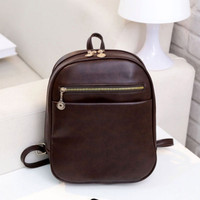 Cute Girls Faux Leather Backpack School Book Bag Students Useful Chic Bag Backpack