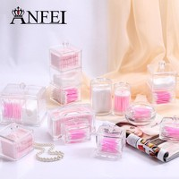 ANFEI 11 Differents Types Cosmetic Cotton Series Storage Box Acrylic Material Makeup Organizer Make-Up Desktop Storage
