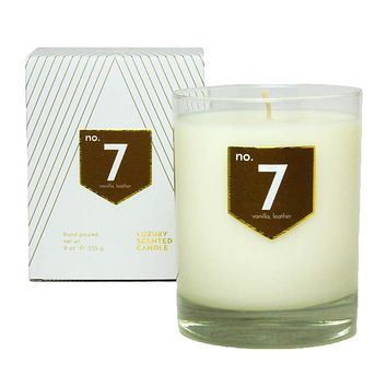 No. 7 Vanilla Leather Scented Soy Candle