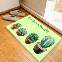 Ball Cactus Pattern Water Absorption Area Rug