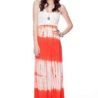 Dye Hard Maxi Skirt in Orange :: tobi