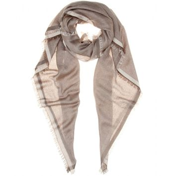 loro piana - rainbow cashmere and silk-blend scarf