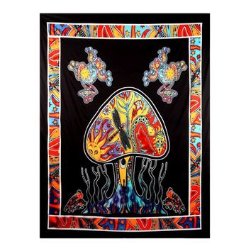 Ouneed Hanging Wall Tapestry Mandala India Beach Towel Blanket Mat Jellyfish Printed Table Cover Happy Sale ap516