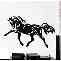 Wall Stickers Vinyl Decal Horse Racing Tribal Animal Decor Unique Gift (ig149)