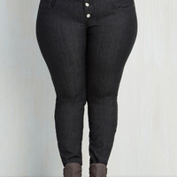 Rockabilly Skinny Karaoke Songstress Jeans in Black - 1X-3X