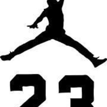 Jordan Jumpman 23 Logo AIR Huge Vinyl Decal Sticker for Wall Car Room Windows