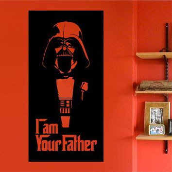 ik2206 Wall Decal Sticker Darth Vader dark side Star Wars children's bedroom
