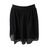 Calvin Klein Womens Sheer Striped A-Line Skirt
