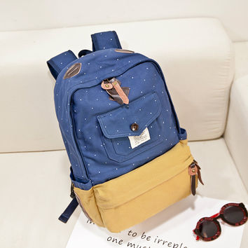 Korean Backpack Fashion Casual Travel Bags [6542350659]