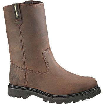 Cat® P89516-10.5M Caterpillar® Mens Revolver Steel Toe Work Boot, Brown, Size-10.5