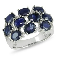 4 Carat Sapphire Fashion Ring in Sterling Silver