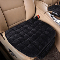 Black Front Row Winter Plush Car seat Cover Accessories Seat Cushion Single Chip