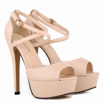 Promotion Limited Eva Women Pumps Loran Sten Nightclub Sandals Ultra Fashionable Bride Shoes Super High Heels Matt 817-8MA = 1929865988