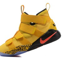 Best Deal Online Nike LeBron Soldier 11 Mamba Mentality Gold Men Basketball Sneakers Sports Shoes