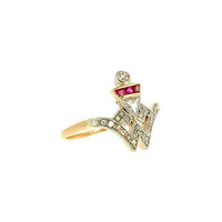 Doyle & Doyle | Ring: Art Deco Diamond and Ruby* Crest Ring