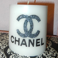 Chanel glittered candle
