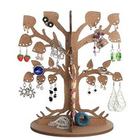 """Wooden Ecological Jewelry Tree / Earring Holder / Earring Tree / Jewelry Stand / Best Gift For Girlfriend / Jewelry Display """"Leafy Dream"""" (Brown)"""