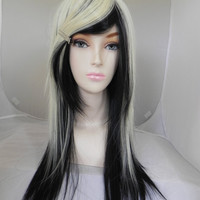 SHOP-WIDE SALE Empty With You / Blonde and Black / Long Straight Layered Wig