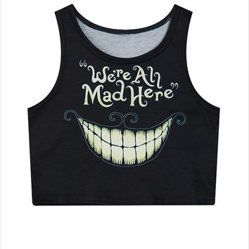 We're All Mad Here - Alice in Wonderland Top