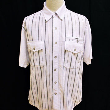 Vintage Striped Shirt Large