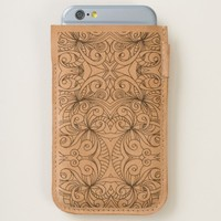 iPhone 6 / 6s Phone Pouch Floral Doodle Drawing iPhone 6/6S Case