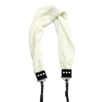Ivory Dot Scarf Camera Strap - Capturing Couture - CASCARF-SWIV