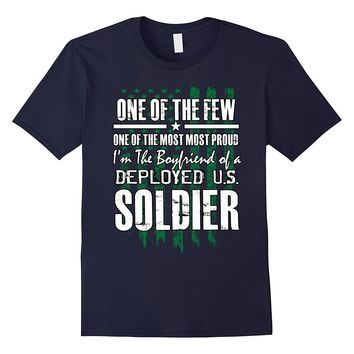 Military green workout shirt - Boyfriend of Deployed Soldier