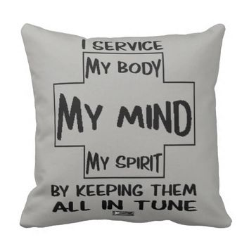 Service Quote by Kat Worth Throw Pillow