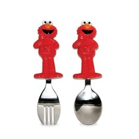 Sesame Street Elmo Toddler Fork & Spoon Set (Red)