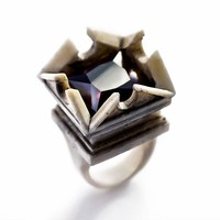 WHITE TEMPLE RING - only 1 left in stock
