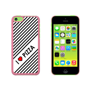 I Love Heart Pizza Case for Apple iPhone 5C