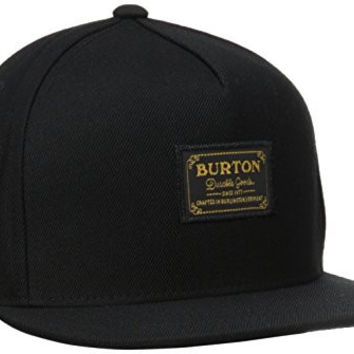 BURTON Men's Hudson Snapback Hat, True Black, One Size