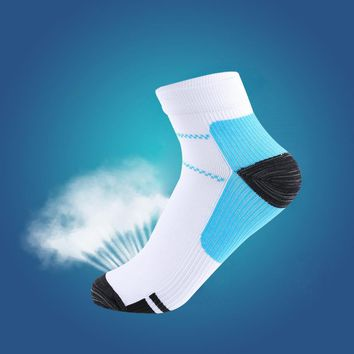 1Pair Hot Sale Unisex Women Men Foot Compression Socks For Plantar Fasciitis Heel Spurs Arch Pain Breathable Chinlon Socks