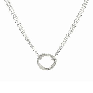 Diamond Link Necklace in Sterling Silver