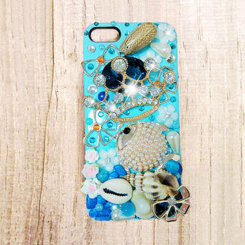 iPhone 6 plus case, iPhone 6 case, iPhone 6 plus bling case, crown fish iphone 6 bling case, samsung galaxy s5 s4 case bling, iphone 5c case