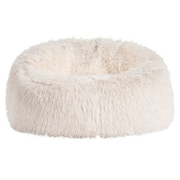 IVORY FURLICIOUS FAUX FUR CLOUD COUCH