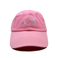 Pink Hello Kitty Printed Cotton Baseball Golf Cap