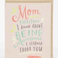 Emily McDowell Everything I Learned Card - Urban Outfitters