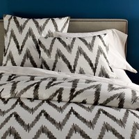 Organic Chevron Duvet Cover, Twin