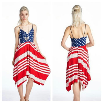 Stars And Stripes Shark Hem Dress