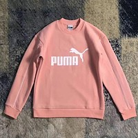 PUMA Fashion Print Pullover Tops Sweater Sweatshirts