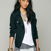 Free People Washed Linen Jacket