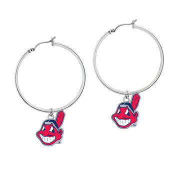 Cleveland Indians MLB Hoop Earrings