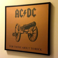 Framed AC/DC Album Cover, For Those About to Rock We Salute You