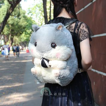 Free shipping Cartoo lovely gift Plush hamster rabbit backpack Leisure fashion Shoulders bags Child birthday present