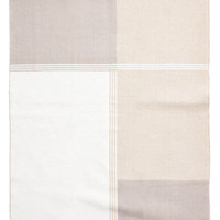 Block-coloured cotton rug - White/Light grey - Home All | H&M US