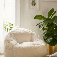 Faux Fur Electronics Storage Bean Bag Chair | Urban Outfitters