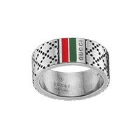 Men's Gucci Diamantissima Ring in Sterling Silver - Size 9